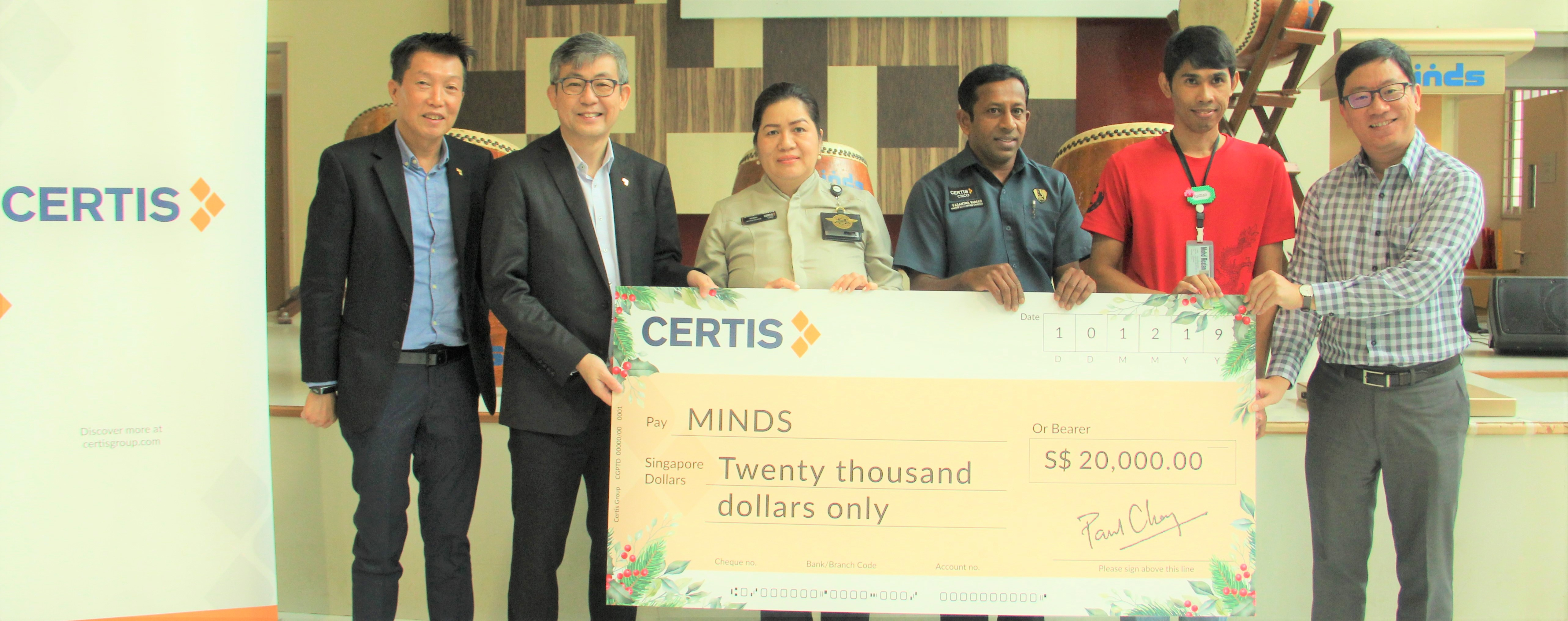 Certis Spreads Christmas Cheer at MINDS