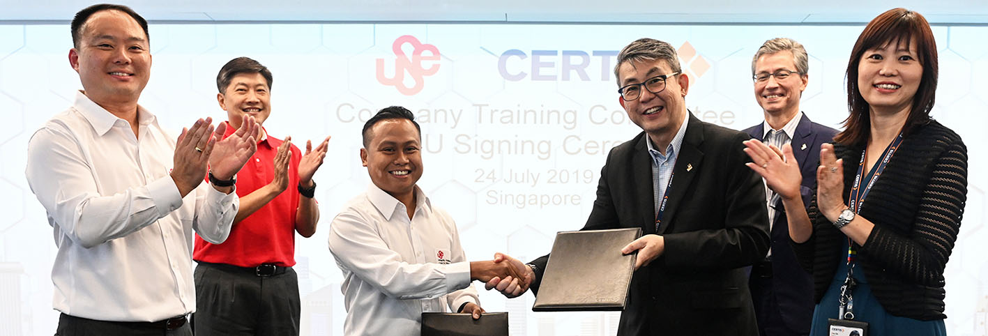 More security officers in higher value jobs via first-of-its-kind collaboration between Certis and Union of Security Employees